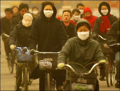 Grave pollution en Chine